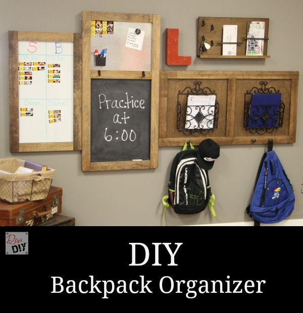 diy organization station backpack station, organizing