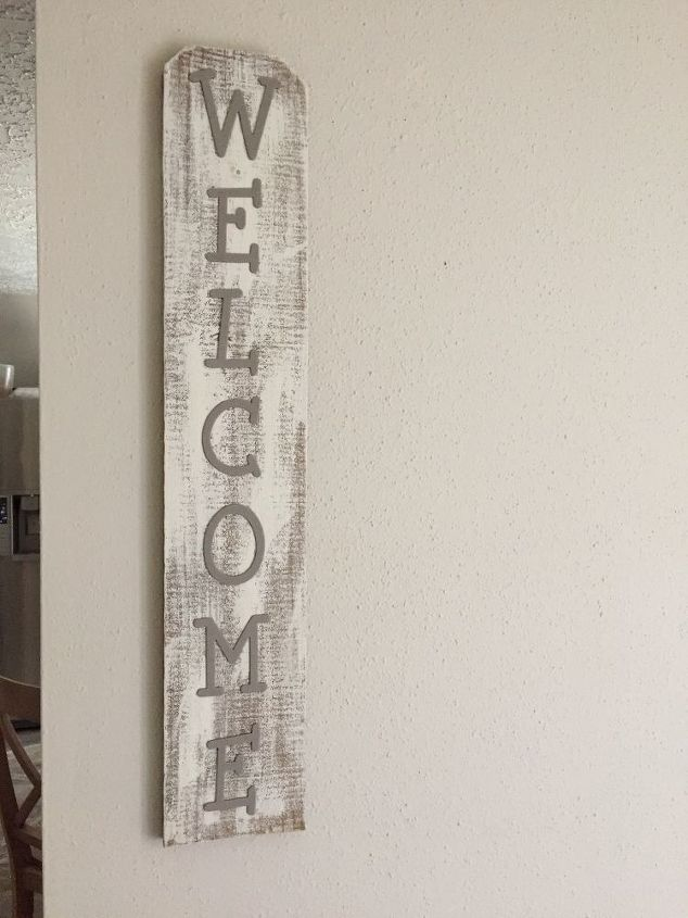 welcome sign, crafts