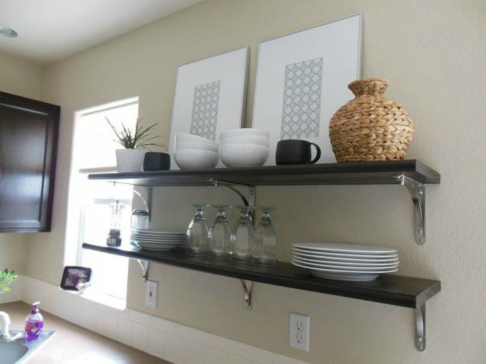 The Benefits Of Open Shelving In The Kitchen: 15 Clever Ways To Add More Kitchen Storage Space With Open