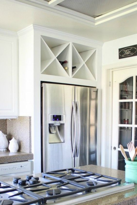 Shelving Above Fridge Kitchen Ideas on windows above fridge, lighting above fridge, cabinets above fridge, baskets above fridge,