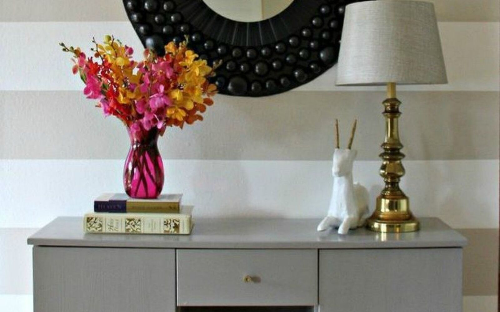 s decorate your living room for under 10 with these 15 ideas, Mount a large mirror to add light