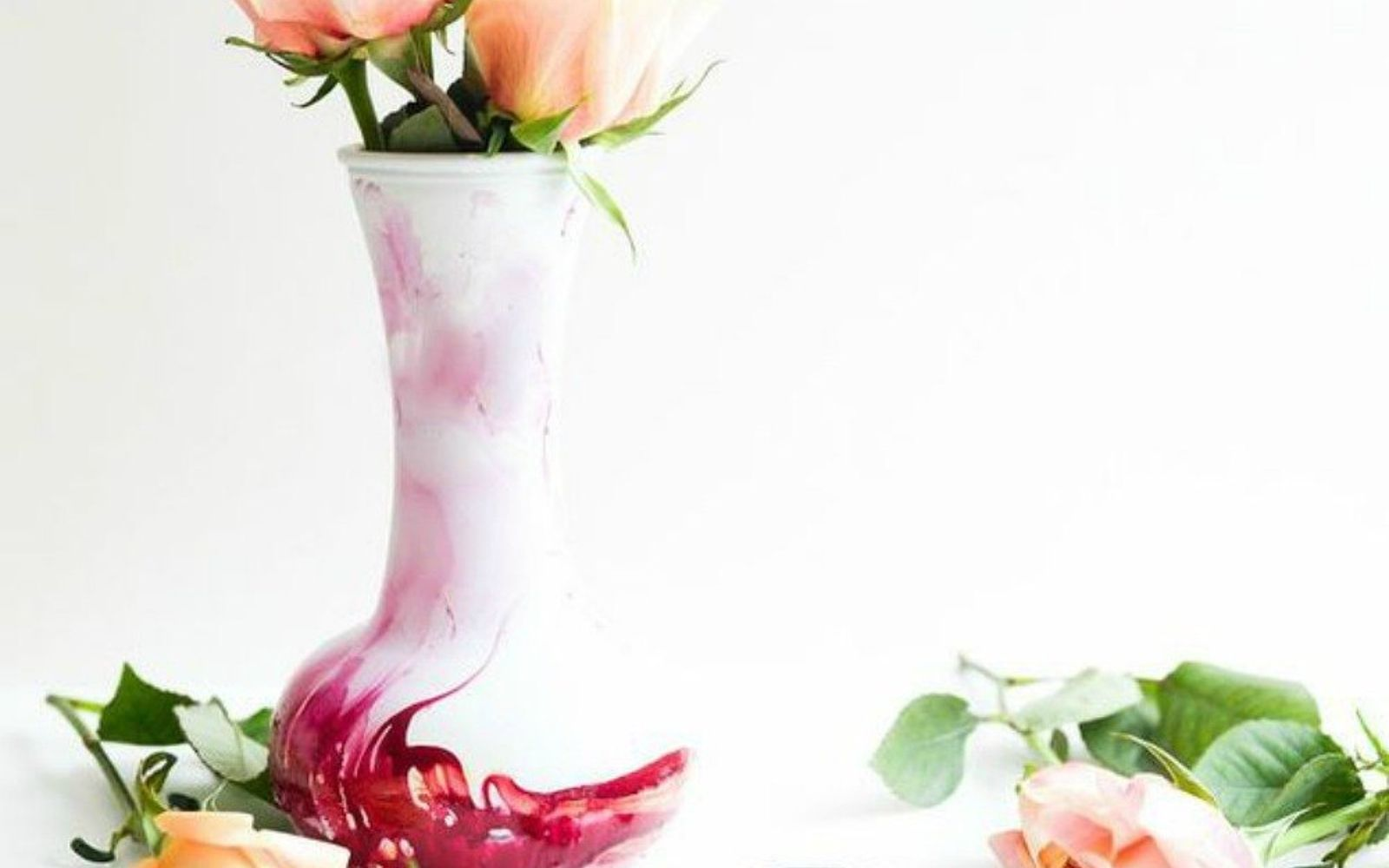 s decorate your living room for under 10 with these 15 ideas, Marble a vase to look designer