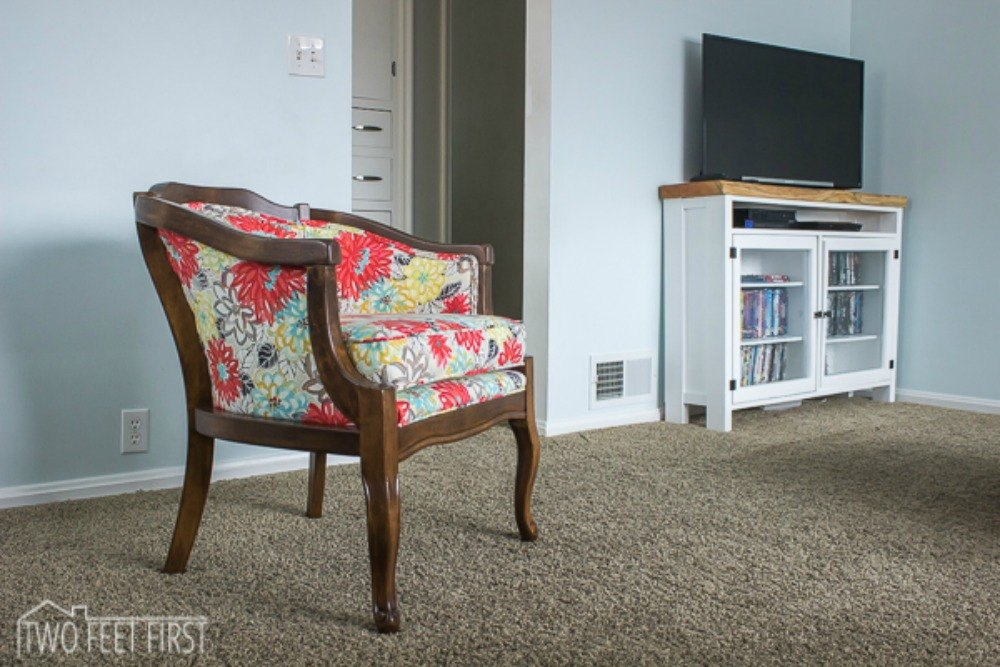 Restore   reupholster a thrift store chair. Decorate Your Living Room for Under  10 With These 15 Ideas   Hometalk