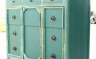 elegant green armoire, painted furniture