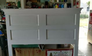 old door headboard, doors