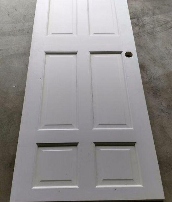 old door headboard, doors