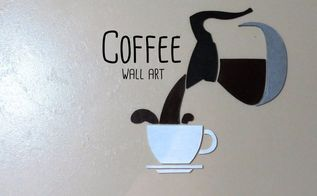 coffee wall art, crafts, painted furniture