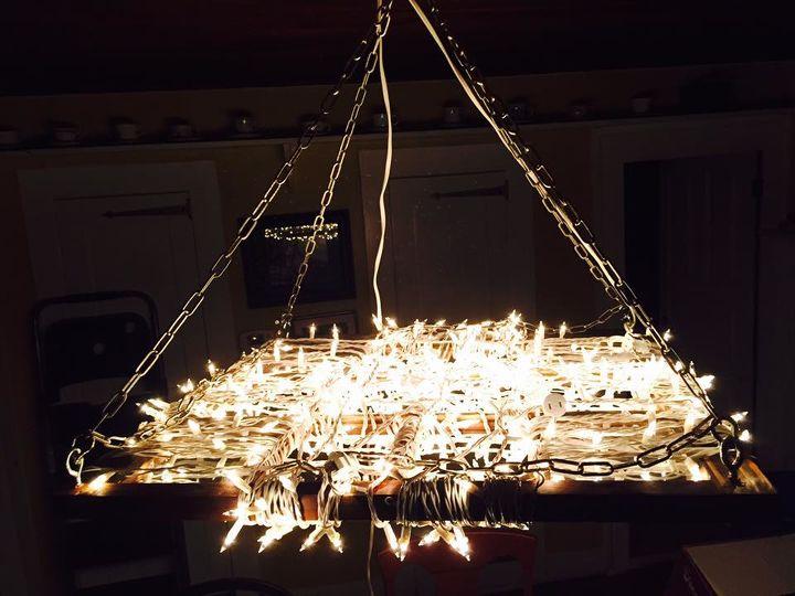 String light chandelier hometalk string light chandelier lighting aloadofball Gallery