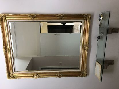 How Do You Distress A Gold Mirror Frame, Silver Paint For Plastic Mirror Frame