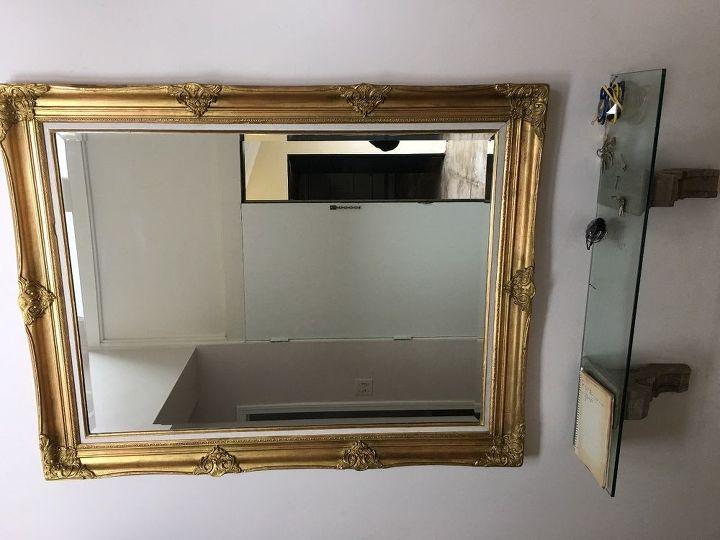 How do you distress a gold mirror frame? | Hometalk