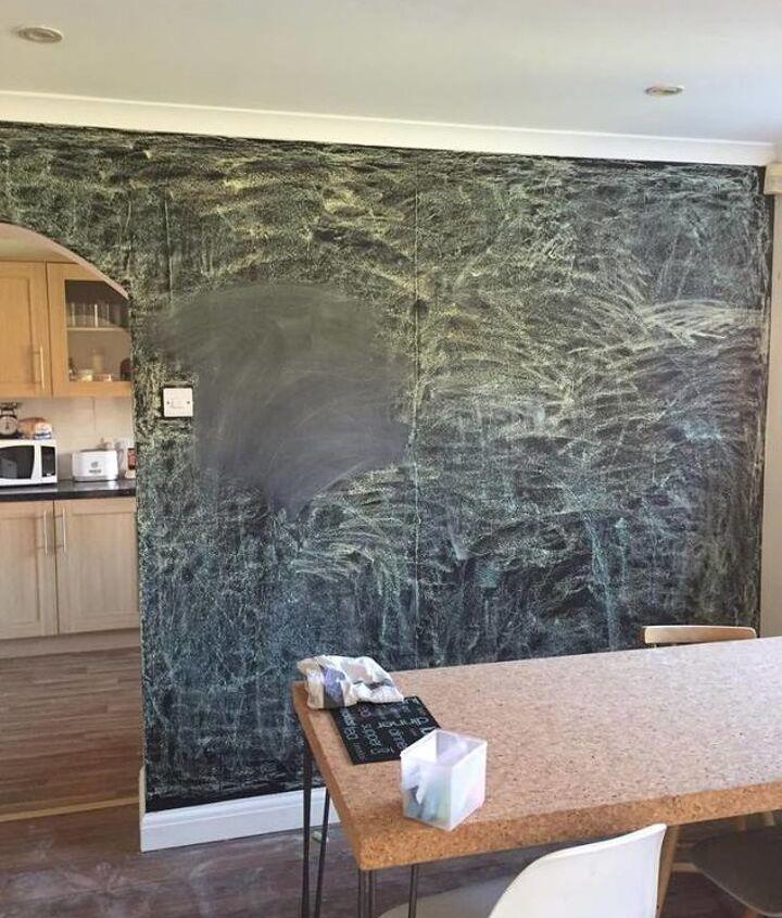 dining room chalkboard wall, chalkboard paint, crafts