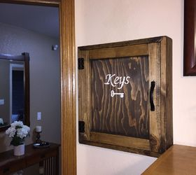 Diy Rustic Wood Key Cabinet, Kitchen Cabinets, Kitchen Design