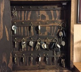 Diy Rustic Wood Key Cabinet, Kitchen Cabinets, Kitchen Design