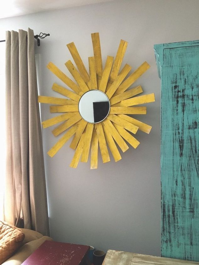 Sunshine Mirror Wall Decor From an Apple Basket | Hometalk