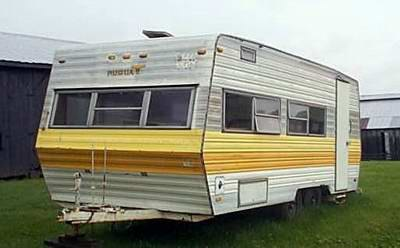 q camper converted to enclosed trailer