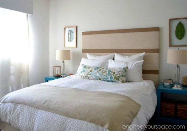 s 11 upholstered headboards you can make without sewing, This stunning one made from burlap