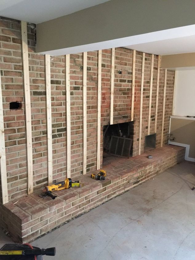 Full Wall Fireplace Makeover Image Collections Co