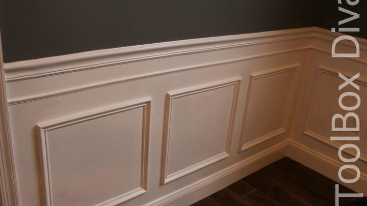 Install Picture Frame Moulding Budget Friendly Wainscoting Hometalk