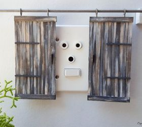 these miniature barn doors are hiding something doors outdoor living : hiding door - pezcame.com