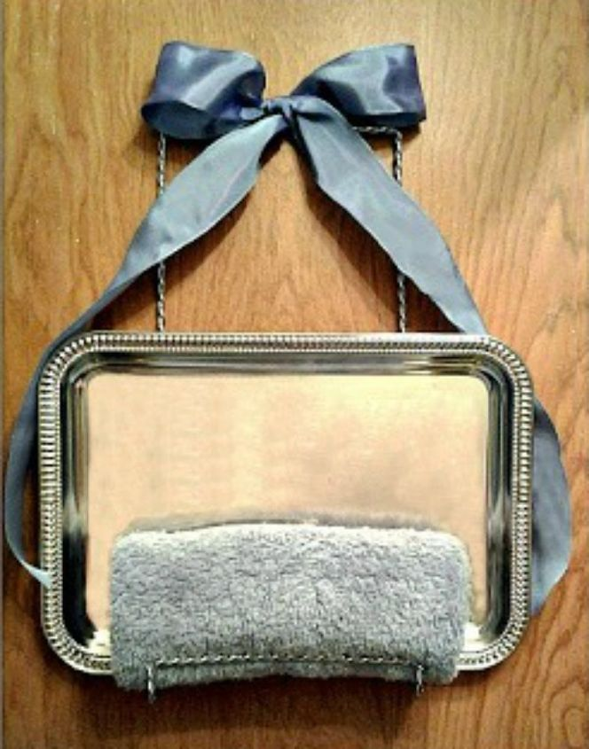 s 14 amazing things you can do with dollar store appetizer dishes, Hang them up as towel holders