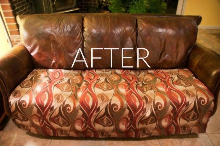 s hide your couch s wear and tear with these 9 ingenious ideas, painted furniture, After New psychedelic comfortable seating