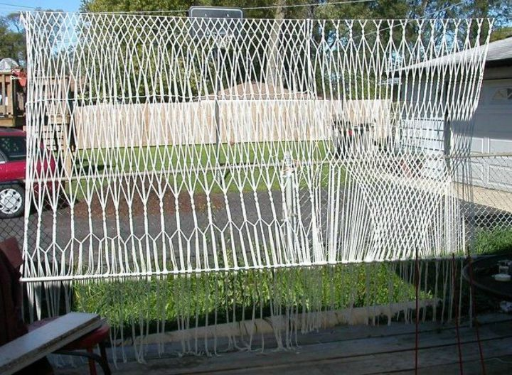 s how to get backyard privacy without a fence, fences, how to, Knot together a macrame wall