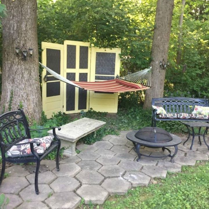 s how to get backyard privacy without a fence, fences, how to, Grab some old doors for a makeshift wall