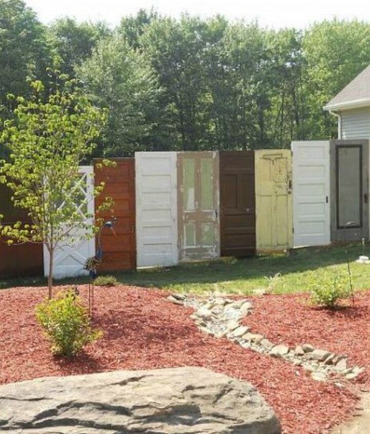 s how to get backyard privacy without a fence, fences, how to, Or line them up for a long and unique fence