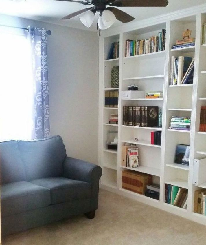s how to fake gorgeous built in furniture 12 ideas, closet, how to, painted furniture, Assemble several Ikea bookshelves together