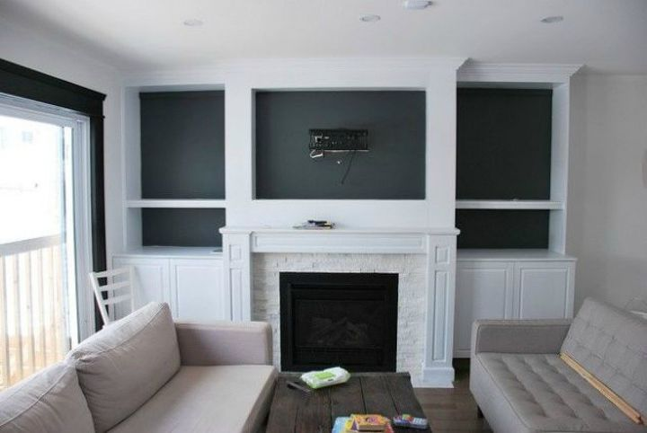 s how to fake gorgeous built in furniture 12 ideas, closet, how to, painted furniture, Create a frame for a natural gas fireplace