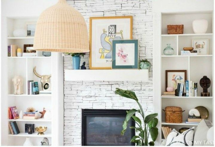 s how to fake gorgeous built in furniture 12 ideas, closet, how to, painted furniture, Nestle some bookcases around a fireplace