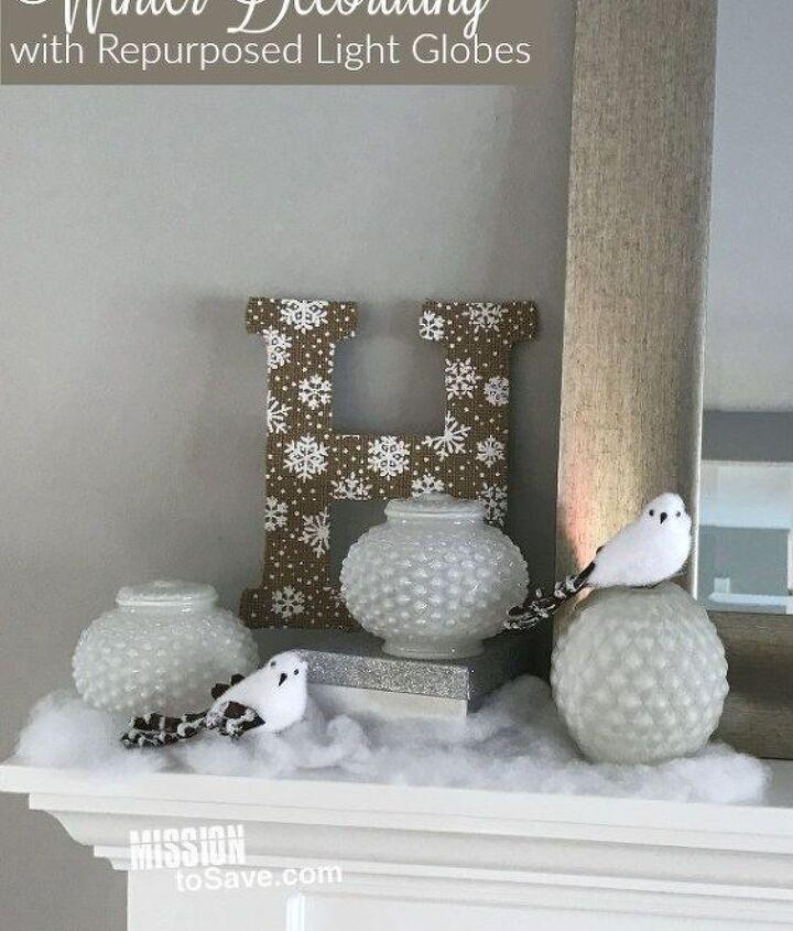 bright idea for winter decor, home decor