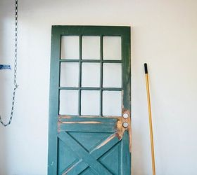 Salvaged Door Turned Sliding Barn Door, Doors, Outdoor Living, Repurposing  Upcycling
