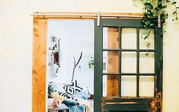Salvaged Door Turned Sliding Barn Door