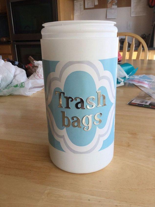 Fantastic Trash Bag Storage Dispenser/Container | Hometalk IH57