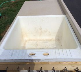 Repurposed Plastic Laundry Tub To Potting Table Fish Cleaning Table,  Bathroom Ideas, Cleaning Tips