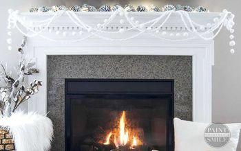 winter firplace garland