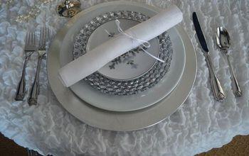 Set a Winter Wonderland Tablescape