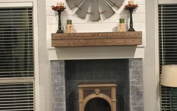 Ugly Fireplace Makeover
