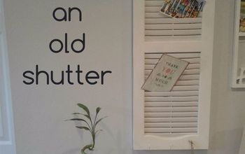 Upcycle an Old Shutter Into a Beautiful Command Center