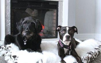 DIY FAUX FUR DOG BED – NO SEW