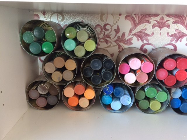 Acrylic Paint Storage Easy To See Colour Ideas