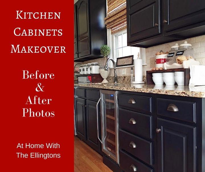 Black Kitchen Cabinets Makeover Reveal | Hometalk