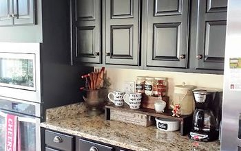 Black Kitchen Cabinets Makeover Reveal