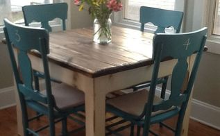 reclaimed rustic wood farm table, painted furniture