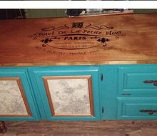 dresser upcycled to a french country buffet, painted furniture