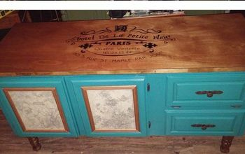 Dresser Upcycled to a French Country Buffet