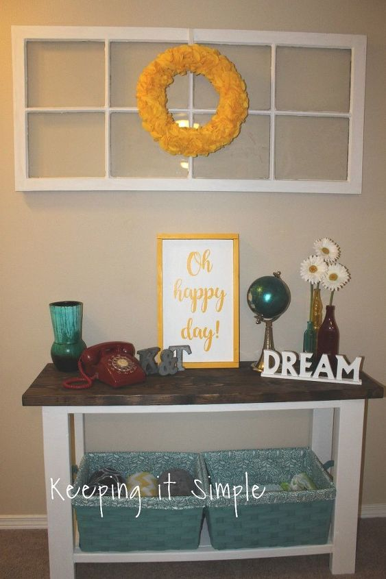 diy sofa table for only 30, painted furniture