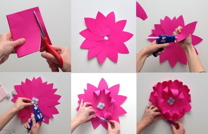 Large paper wall flowers hometalk large paper wall flowers gardening mightylinksfo