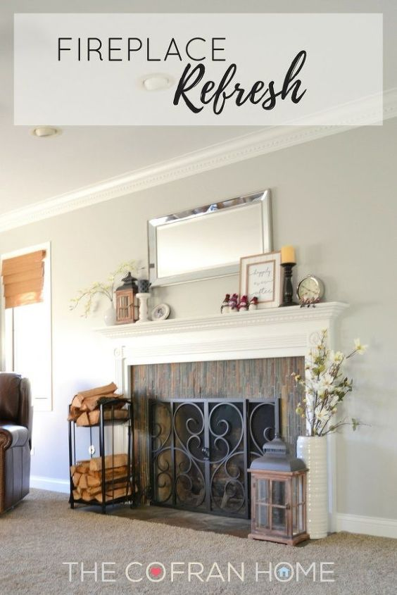 fireplace refresh, fireplaces mantels